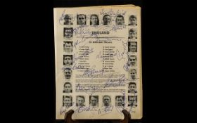 England World Cup 1966 Team Autographs in original 1966 programme, including Bobby Moore, Alan Ball,