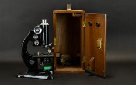 Beck Of London Microscope Portable Microscope Housed A Beck London Model 47 microscope, marked to