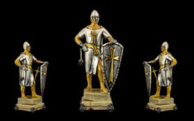 Giuseppe Vasari Large and Impressive Ltd, Numbered and Signed Gilt Bronze Figure. c.1970's.