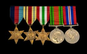 World War II Collection of Military Medals with Ribbons. Comprises 1/ 1939 - 1945 Defence Medal.