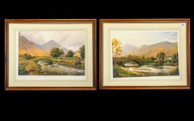 A Pair of Peter McKay Limited Edition Signed Prints - Signed in pencil lower left 96/500.