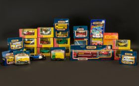Collection of Matchbox Vans & Cars 28 in total, all in original boxes.