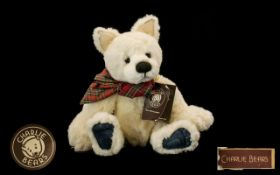 Charlie Bears Modern teddy bear with tag titled 'Best Friend' CB165109. Designed by Alison Mills.