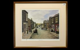 Tom Dodson 1914 - 1991 Ltd and Numbered Edition Colour Print - Titled ' A Carriage for Two ' This