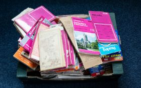 A Large Quantity Of Maps, Various Areas & Dates To Include Ordnance Survey, Philip's, Telegraph,
