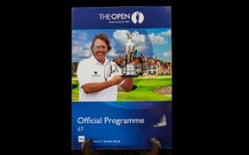 Golf Interest - Autograph of Phil Mickelson on cover of Golf Open Championship Programme,