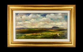 Paul Demaria (British 1956 -) Original Oil On Canvas 'Cloud Shadows On The Moors' Signed to verso