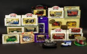 Collection of Vintage Diecast Vans in original boxes, 17 in total,