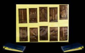 Embossed Cigarette Cards in Navy Blue Album. Titled 'The Nostalgia Album.' Very beautifully