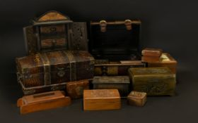 A Large Collection Of Boxes And Caskets Approx 16 items in total, all modern collectibles to include