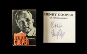 Henry Cooper Hard Back Signed Autobiography. Signed in ink on title page. Cassel London Publishers.