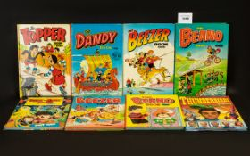 Collection of Vintage Children's Albums 8 in total, to include Beano 1986, Dandy 1988, Beezer 1988,