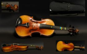 Early 20th Century Violin with modern poly-softcase.
