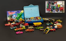 Large Box of Diecast Cars, Vans & Trucks in used condition,