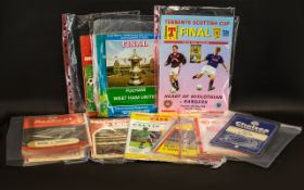 Football Interest - A Collection of Football Programmes including Blackpool programmes dating from