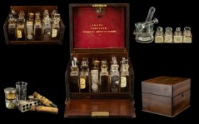 S. Maws - Victorian Period Portable Mahogany Cased Domestic Medical Cabinet with Fitted Interior. c.