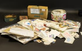 Stamp Interest - Large Crate of Stamps. Lots of early GB. Lots of duplication.