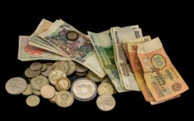 Soviet Memorabilia - includes coins and notes. See photographs.