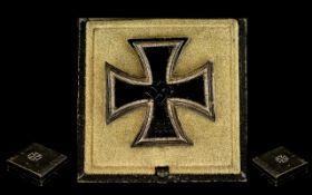 WW2 Nazi Third Reich German Iron Cross 1939 1st Class, Pin Stamped,