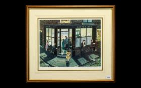 Tom Dodson 1910 - 1991 Artist Signed Ltd and Numbered Colour Print - Title ' Fish and Chips ' In