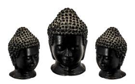 Bronze Buddha. Bronze Buddha bust 4 inches high, has good age, please see accompanying image.