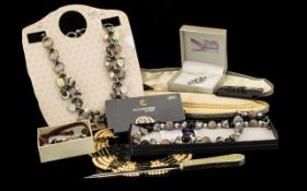 Mixed Collection of Vintage & Contemporary Jewellery to include necklace by Marina Macleod in