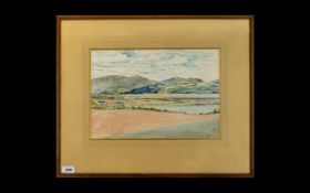 John Linton ' Kirkudbright School ' Early 20th Century ' A View of Wigtown Bay from Kirkenner