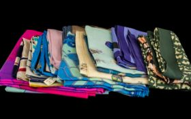 Collection of Silk Scarves, to include Christian Dior, 3 x Swiss Kreier, DKNY and others...