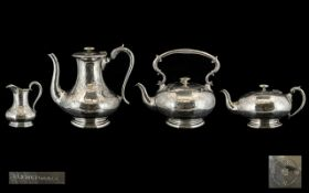 Large & Impressive Elkington & Co Silver Plated Late 20th Century Set comprising of four pieces;