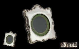 Elizabeth II - Britannia Silver Photo Frame of Pleasing Form.