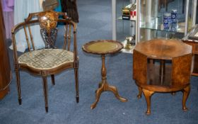 Collection of Wood Furniture - Six pieces of dark wood furniture. All of as found condition.
