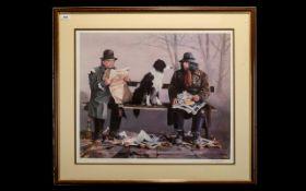 Signed Lawrence Rushton Print - 1919-1994 - Artist Signed Ltd Edition Colour Print,
