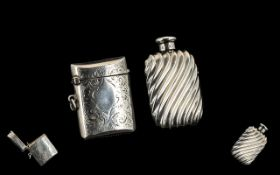 Antique Pair of Fine Sterling Silver Items.