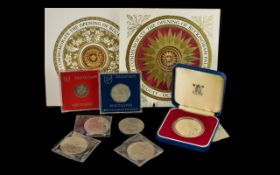 Small Collection of Coins to include the opening of Buckingham Palace, Crowns,