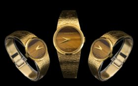 Bueche Girod Nice Quality Ladies 9ct Gold Bracelet Watch From The 1970's / 1980's.
