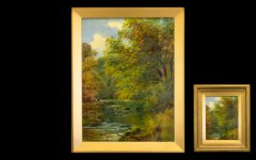 A Late 19th/Early 20th Century Oil On Canvas Signed J.E Dalby to lower right, each depicting a fly
