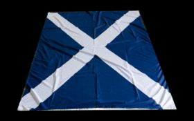 Scottish Flag 46'' x 80''. In good condition, please see photographs.