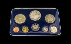 Barbados Proof Set by Franklin Mint in original box with certificate of authenticity.