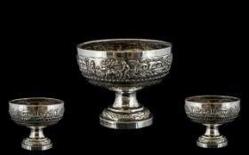 Burmese Silver Bowl.