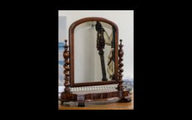 Victorian Period - Nice Quality Mahogany Dressing Table Mirror,