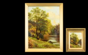 A Late 19th/Early 20th Century Oil On Canvas Signed J.E Dalby to lower right, each depicting a