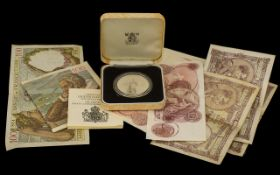 A Commemorative 80th Birthday Queen Elizabeth Proof Silver Crown in original box together with