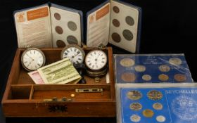 Boxed Collections of Coins, Coinage of GB to include Half Crown, English Shilling, Penny, Sixpence,