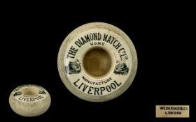 Wedekind & Co of London Early 20th Century Ceramic Match Holder and Striker,