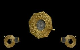 Gentleman's Deluxe 9ct Gold Octagonal Shaped Cigar Cutter, From the 1960's Period,