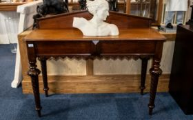 Victorian Mahogany Console/ Buffet Table