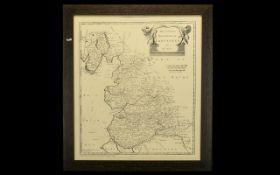 Framed Map of Lancaster. Interesting ol