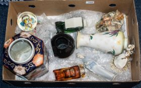 Box of Mixed Collectible Ceramic and Gla