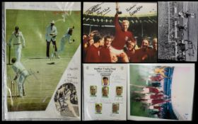 Signed Sporting Ephemera - in two files