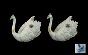 Lladro Fine Pair of Quality White Swan F